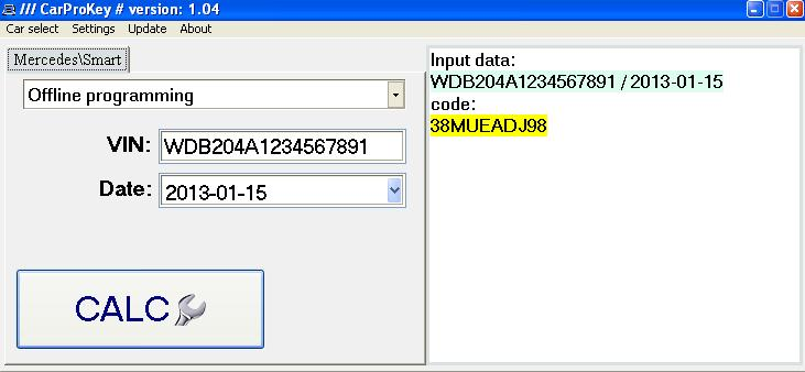 CarProKey Xentry unlocker & immo pin code
