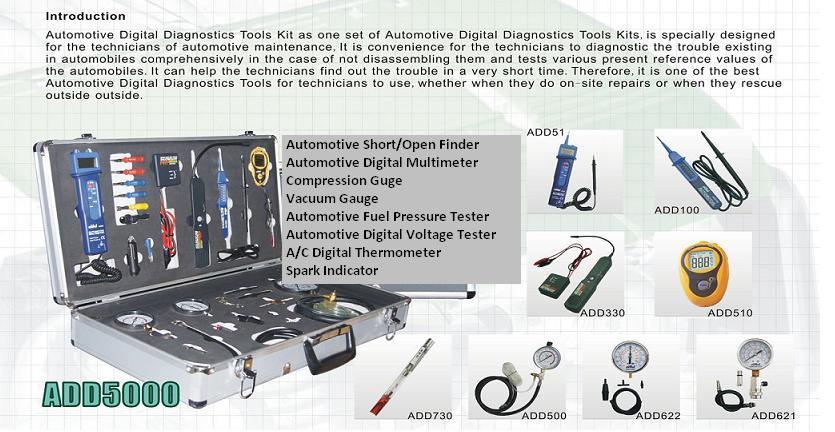 GaruTech introduces ADD5000 Automotive Digital Diagnostic Tester Tools
